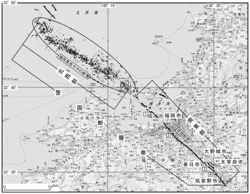 【地震予知】九州・福岡の博多湾で地震が頻発…専門家「警固(けご)断層帯が動く前兆の可能性」注意呼びかけ 「推定M7.2」 断層全体が同時に活動すれば「M7.7」