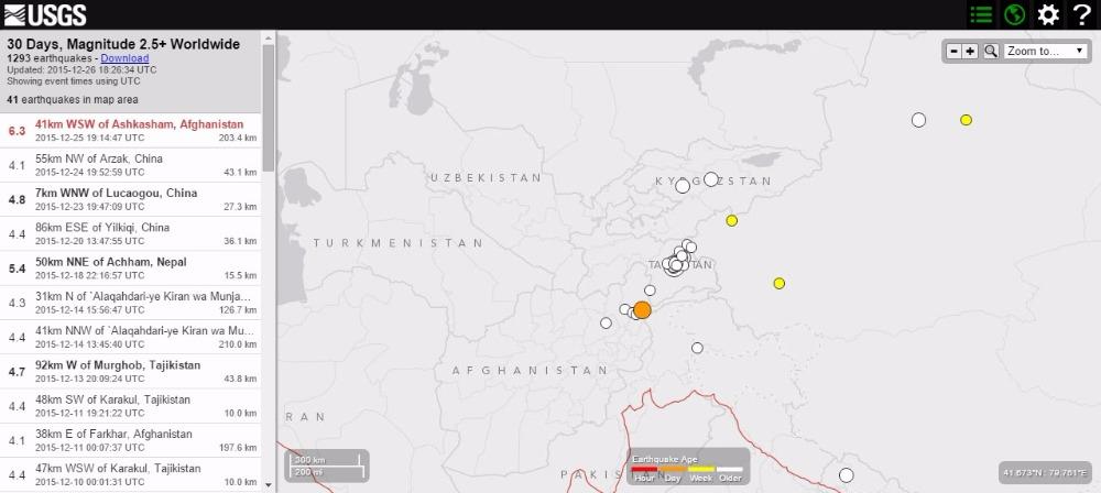 アフガニスタン北東部でM6.3の地震…パキスタンでは30人以上負傷