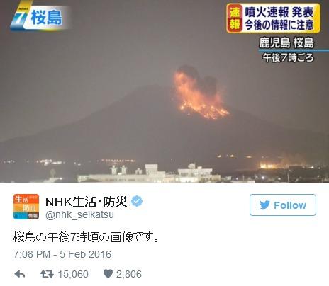 桜島が噴火、現在噴火警戒レベルは2…気象庁が噴火速報を発表