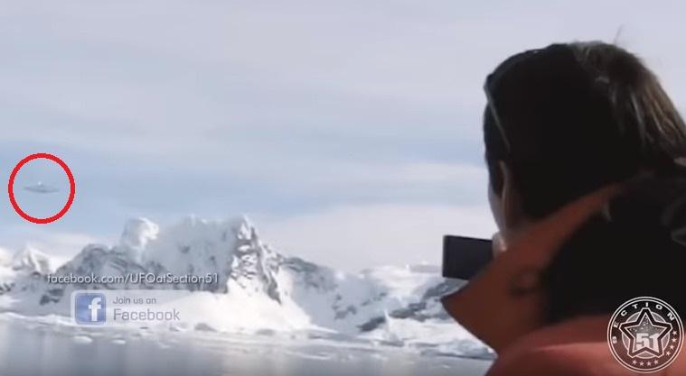 ノルウェーの南極観測隊員が目の前を通過する「巨大UFO」を撮影か