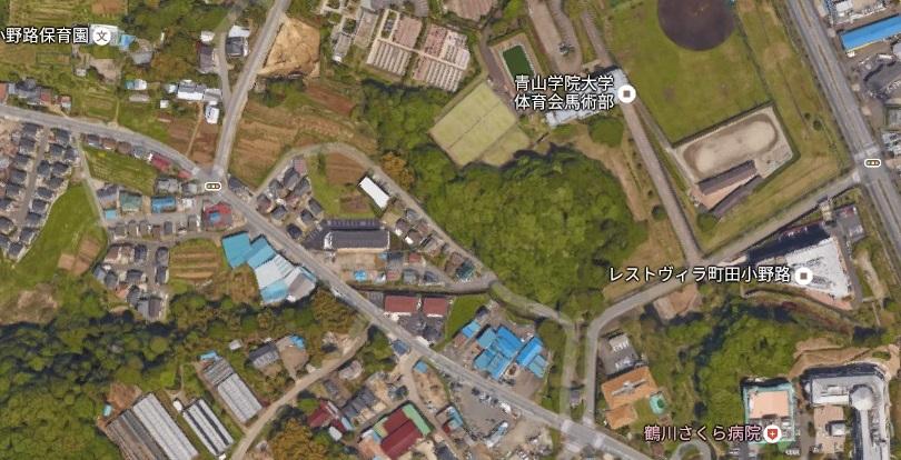 町田市小野路町の非常口位置google[1]