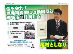県議会報告チラシ・ラフ(表面)