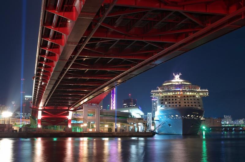 クァンタム・オブ・ザ・シーズ 神戸港 ポーアイ北公園 夜景