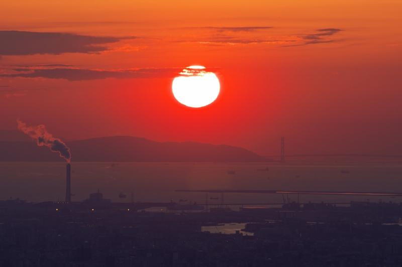 信貴生駒スカイライン・十三峠の夕陽