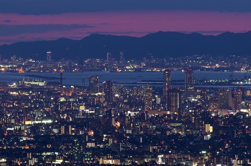 信貴生駒スカイライン・十三峠の夜景