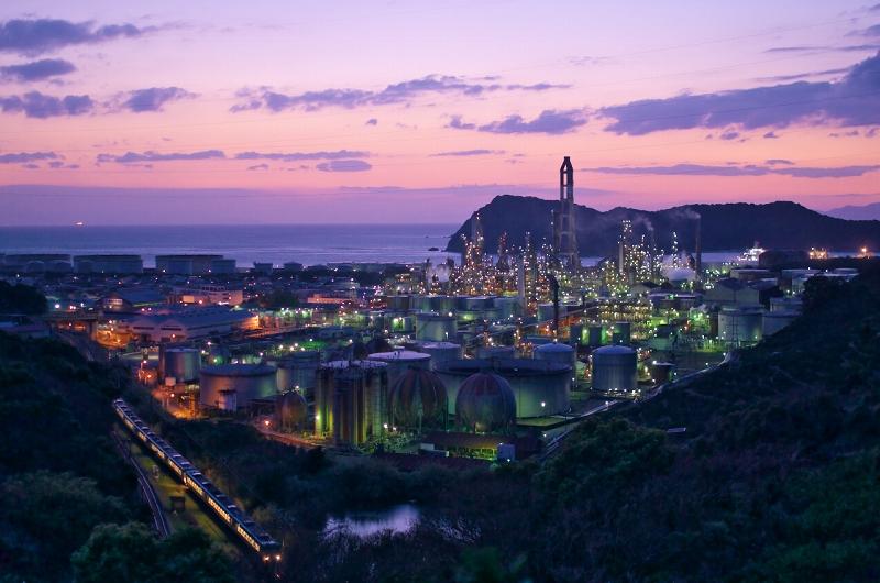 東燃ゼネラル石油和歌山工場 みかん山 夕景 夜景