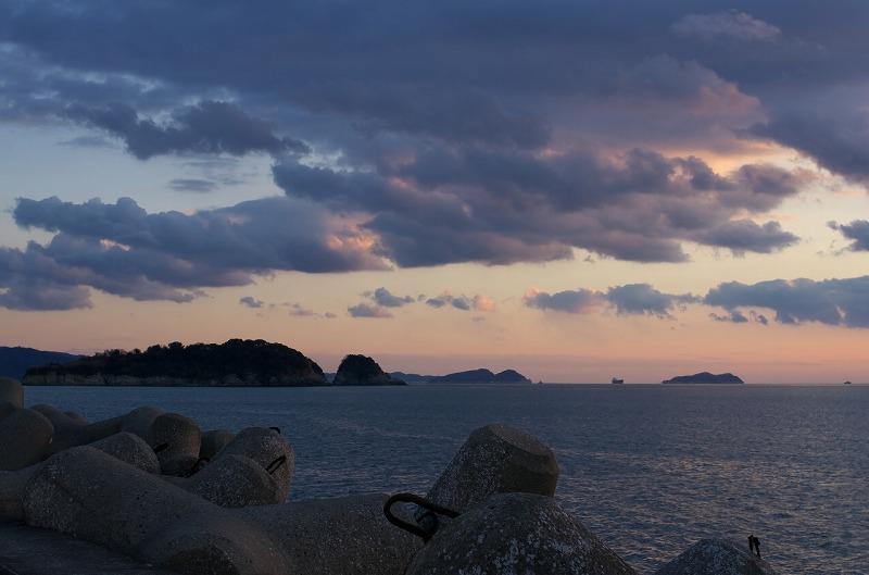 和歌山港 波止場 夕陽