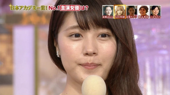 有村架純 日本アカデミー賞のDカップドレス姿キャプ 画像30枚 21