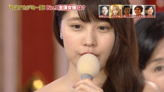 有村架純 日本アカデミー賞のDカップドレス姿キャプ 画像30枚 25