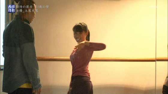 土屋太鳳 情熱大陸のダンスで魅せた着衣巨乳と腋汗キャプ 画像36枚 16
