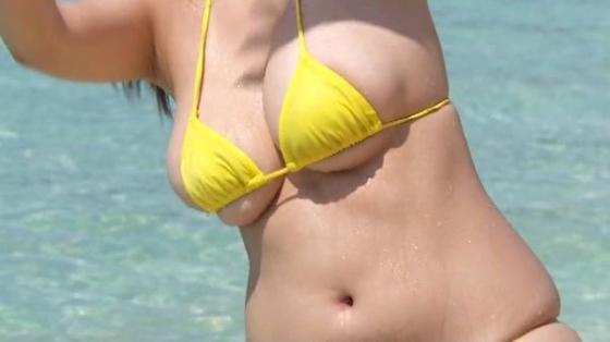 水樹たま ぽちゃプニ2のJカップ+腹肉+巨尻キャプ 画像59枚 15