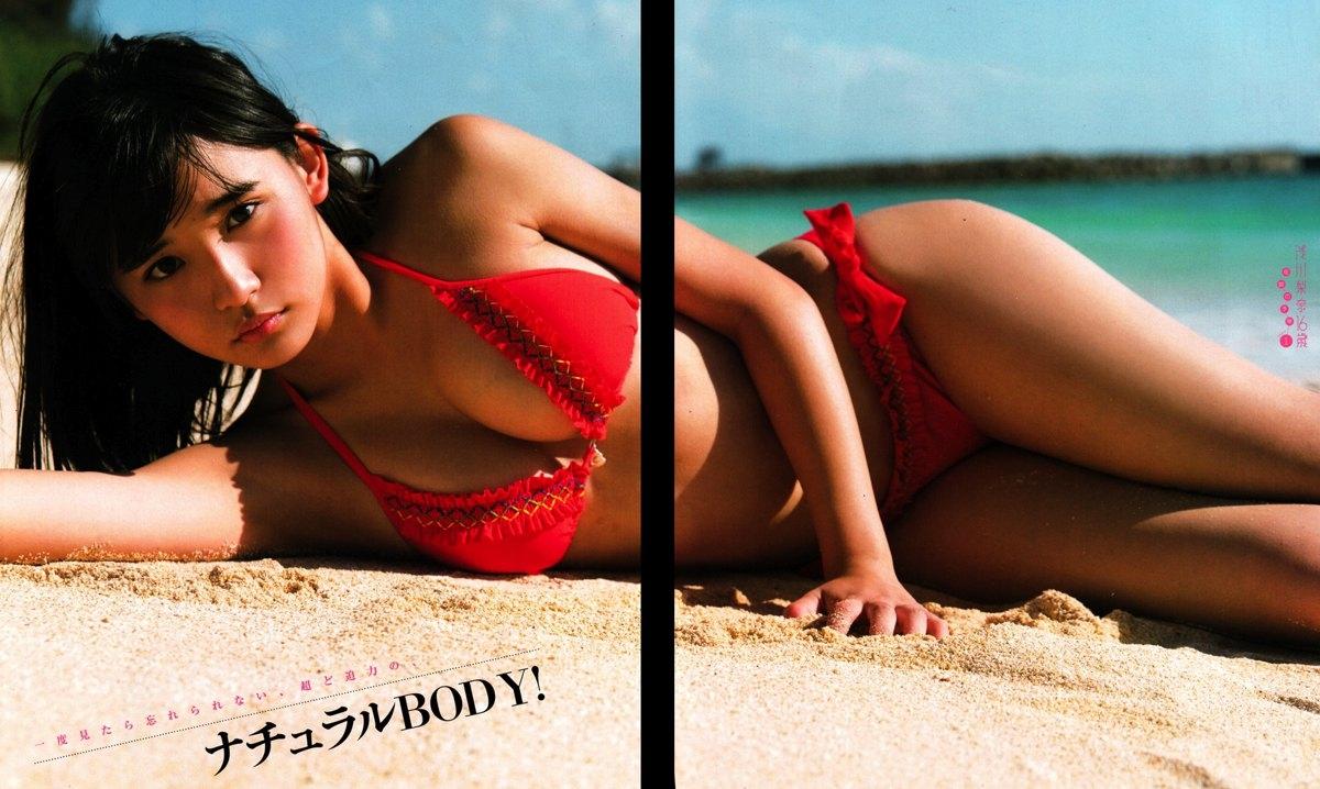 浅川梨奈 ヤングガンガンの最新Eカップ谷間水着グラビア 画像34枚 14