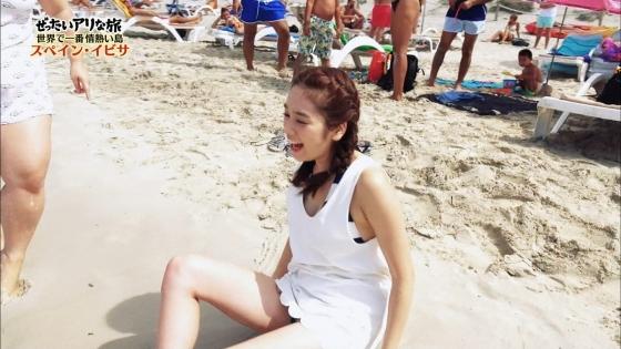 筧美和子 スペイン旅ロケで披露したHカップ谷間と腋キャプ 画像25枚 10