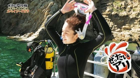 筧美和子 スペイン旅ロケで披露したHカップ谷間と腋キャプ 画像25枚 23