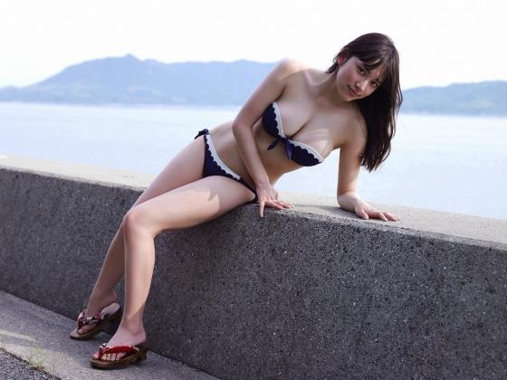 都丸紗也華 週プレのFカップ巨乳水着グラビア 画像36枚 9