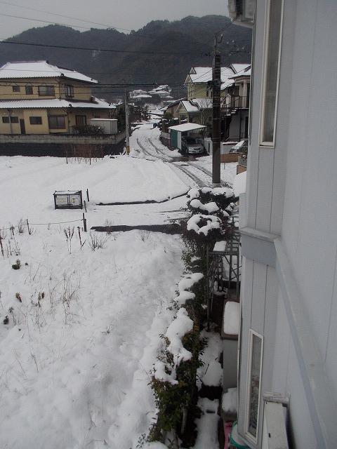 家の周辺も まだ雪