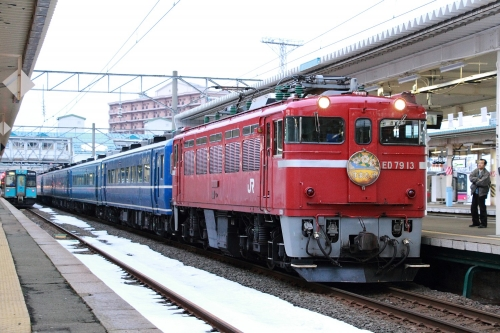 「はまなす」入線 青森駅(朝)