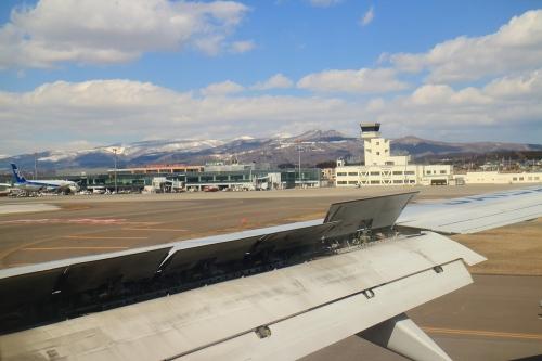 着陸時 函館空港