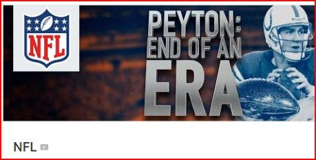 20160308ペイトンの引退発表の日のYouTubeNFLアカウントの画像