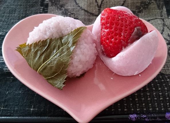 大福堂 桜餅&あまおういちご大福