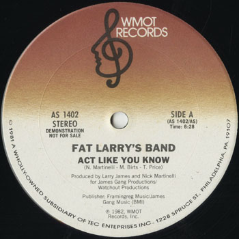 DG_FAT LARRYS BAND_ACT LIKE YOU KNOW_201602