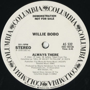 DG_WILLIE BOBO_ALWAYS THERE_201602