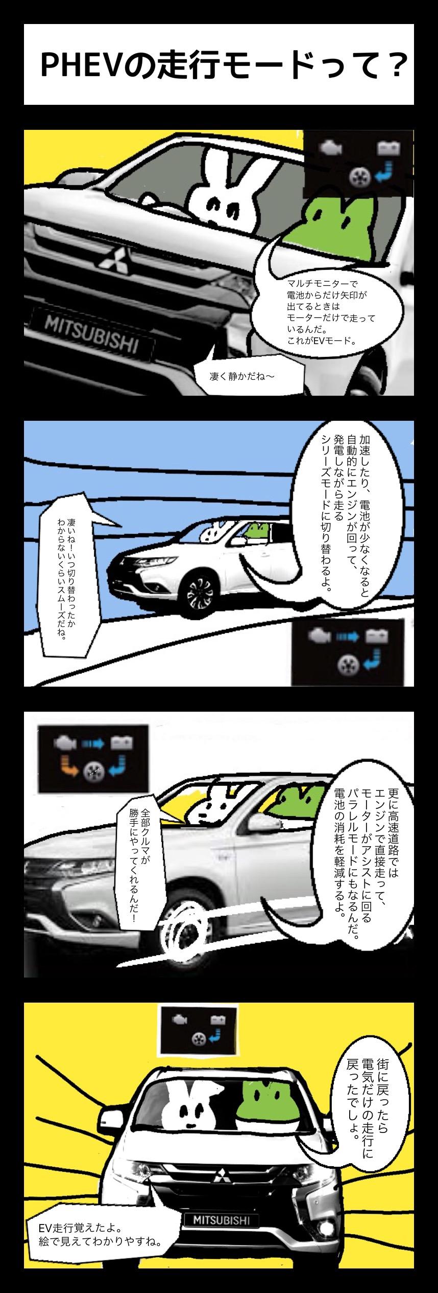 PHEV鳥獣戯画 その④「PHEVの走行モードって?」