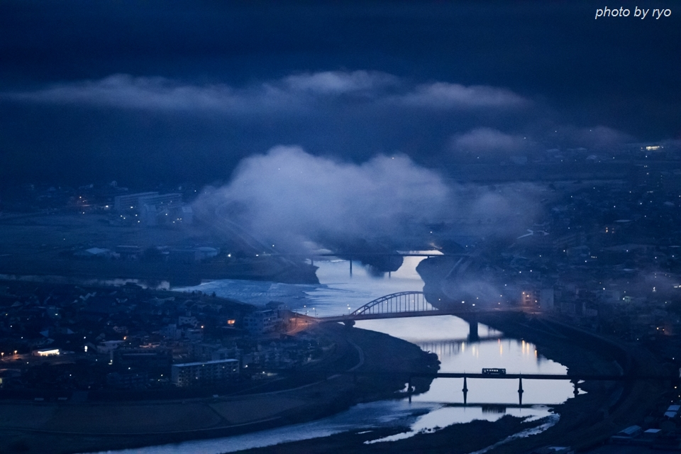 夜明けの霧と三江線