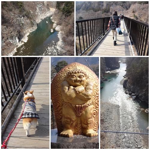 鬼怒川の吊り橋
