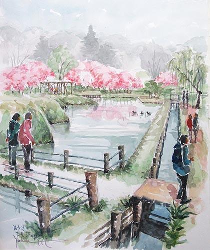 茨城・古河の桃祭りで/F10