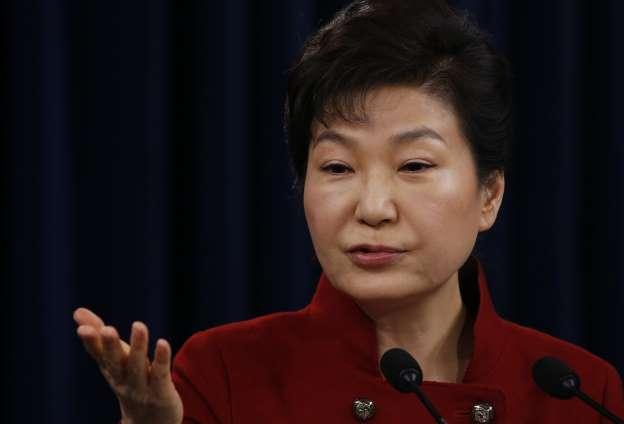 ⑤BBpNubGc AFPBB News 提供韓国ソウルの青瓦台(大統領府)で記者会見する朴槿恵(パク・クネ)