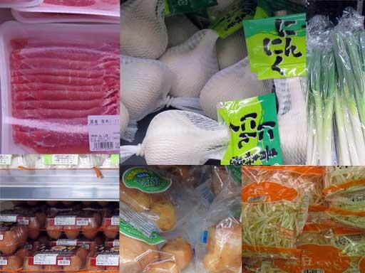 豚肉入りにんにくラーメンの具材の写真