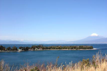 2016feb大瀬崎と富士山