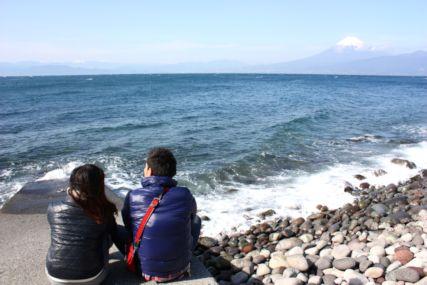2016feb大瀬崎と富士山2
