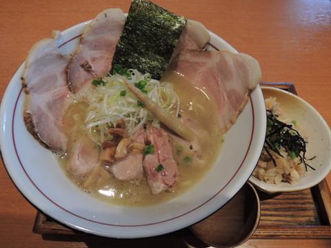 松茸薫る鴨白湯(塩)並(150g)(1000円)