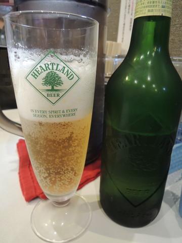 ハートランドビール(500円)