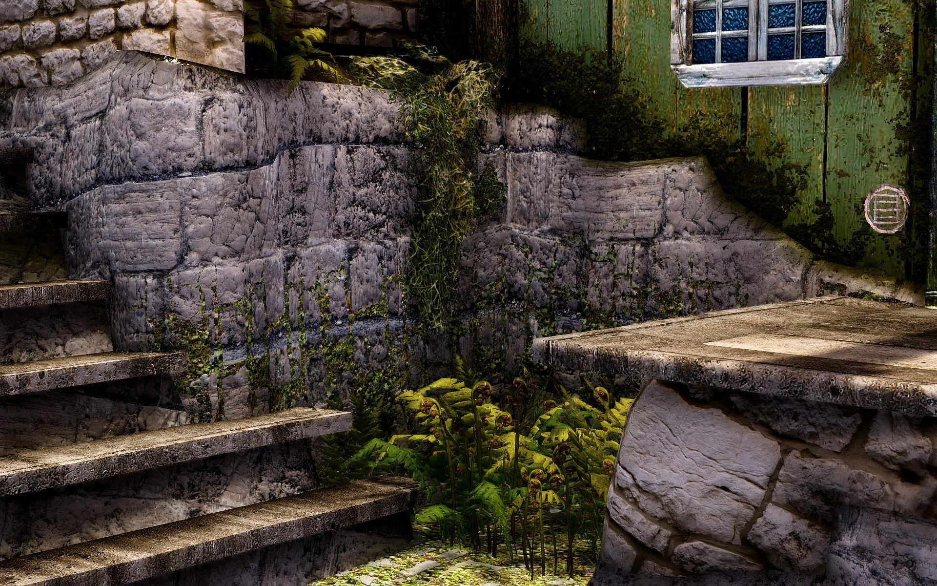 垂れ苔リテクスチャMOD:Green Hanging Spanish Moss HD(カスタム)