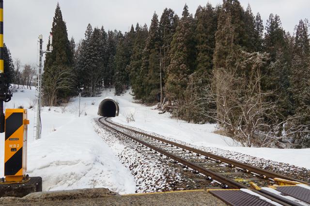 森宮-足滝間のトンネル