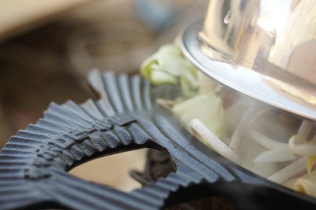 サッポロビール園謹製ジンギスカン鍋を使って