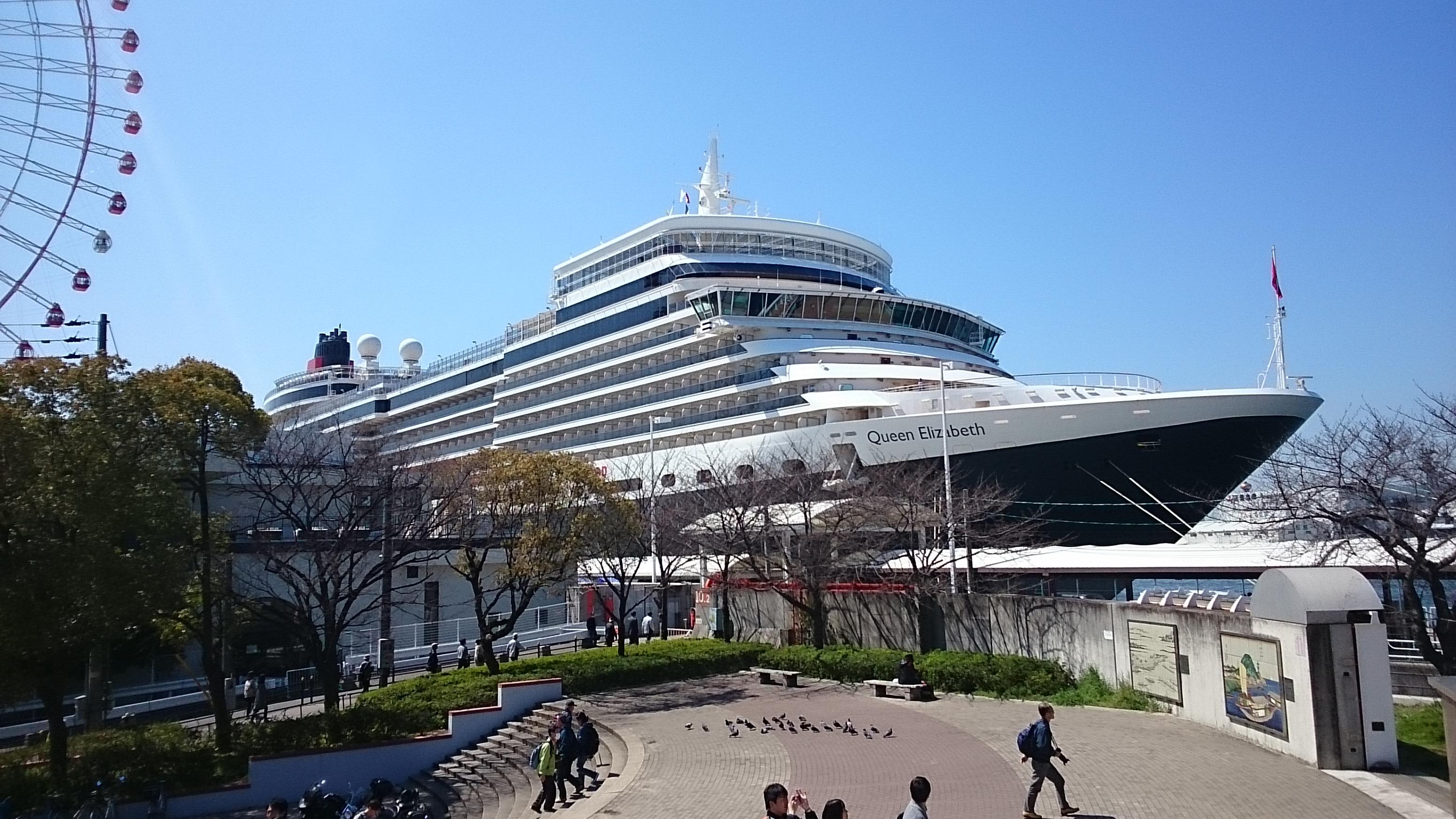 クイーン・エリザベス号/船首