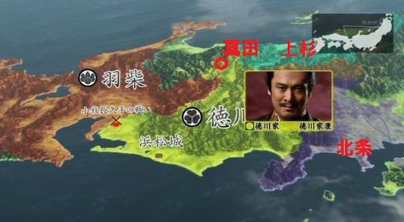 上田城攻め時点での勢力図。地図 真田丸