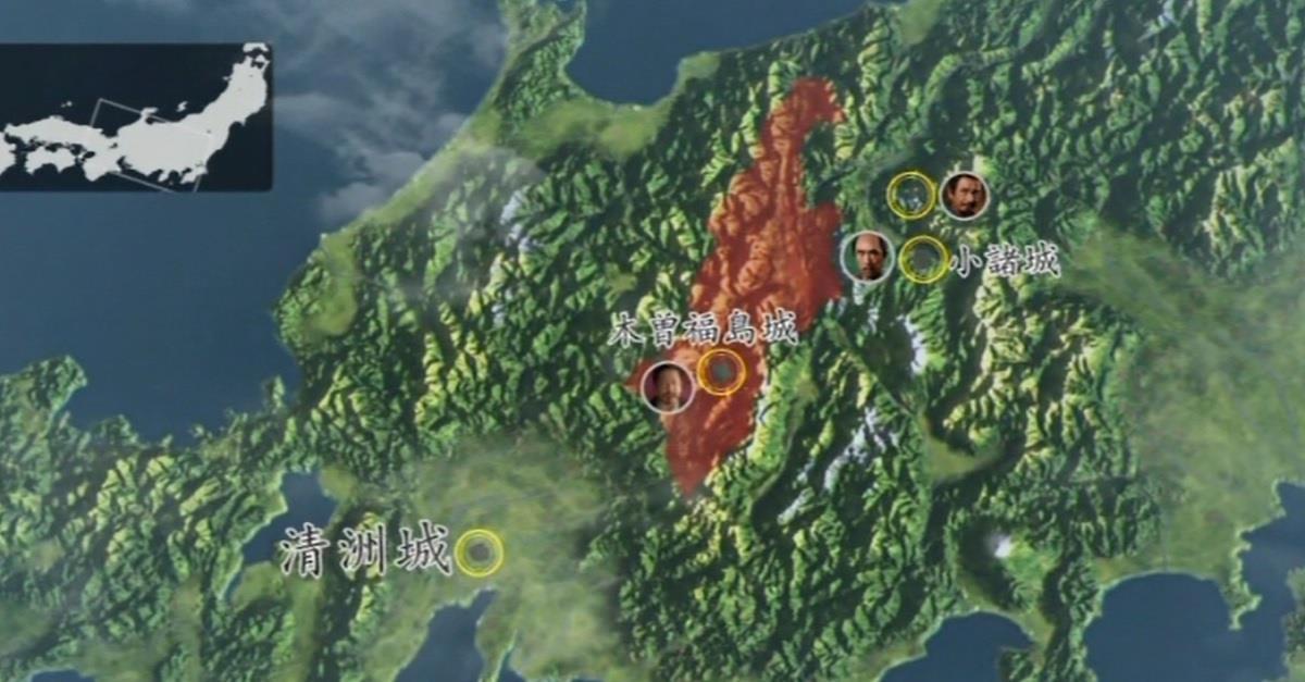 清須会議に参加するため、早く信濃を出たい滝川一益 地図 真田丸
