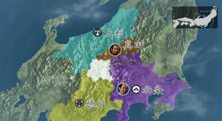 北条軍2000は、碓氷峠を越えて信濃に進軍・地図 真田丸
