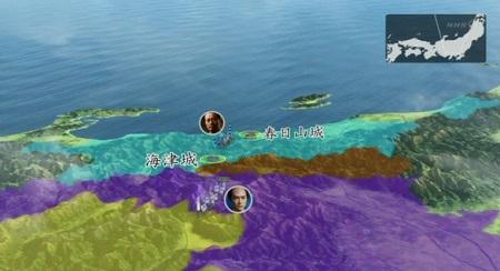 北条軍も上杉軍も戦場を離れるという結果 地図
