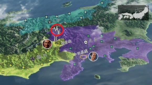 甲斐に入った徳川軍と対決するため南下 地図 真田丸