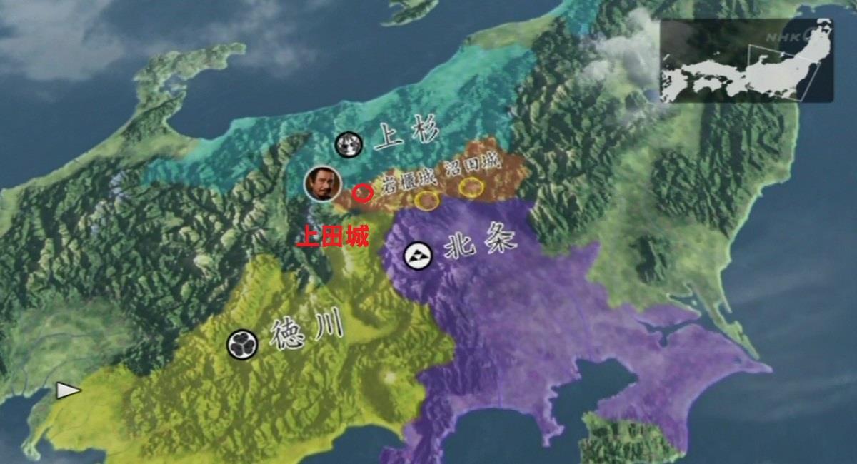 上田城の位置 地図 真田丸