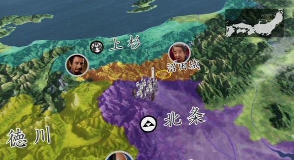 北条家による沼田城攻めが開始。 真田丸 地図