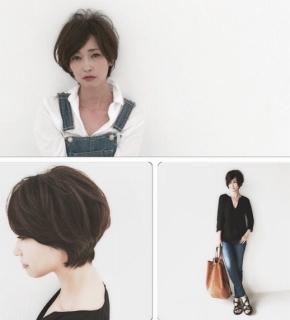 辺見えみりのショートヘアとファッションss1