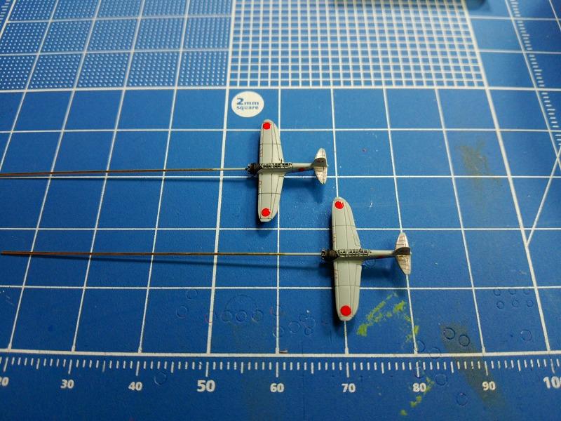 s-零式水偵の塗装完了&エンジン設置