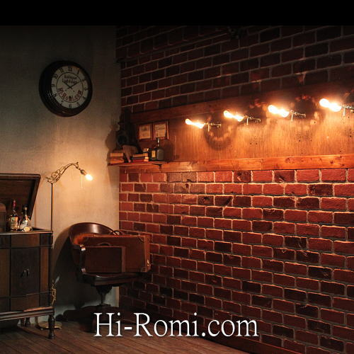 工業系・銅製シェード付/真鍮壁掛ライト ブラケット ウォールランプ 壁掛 照明 店舗設計 インダストリアル Hi-Romi.com ハイロミドットコム 20160318